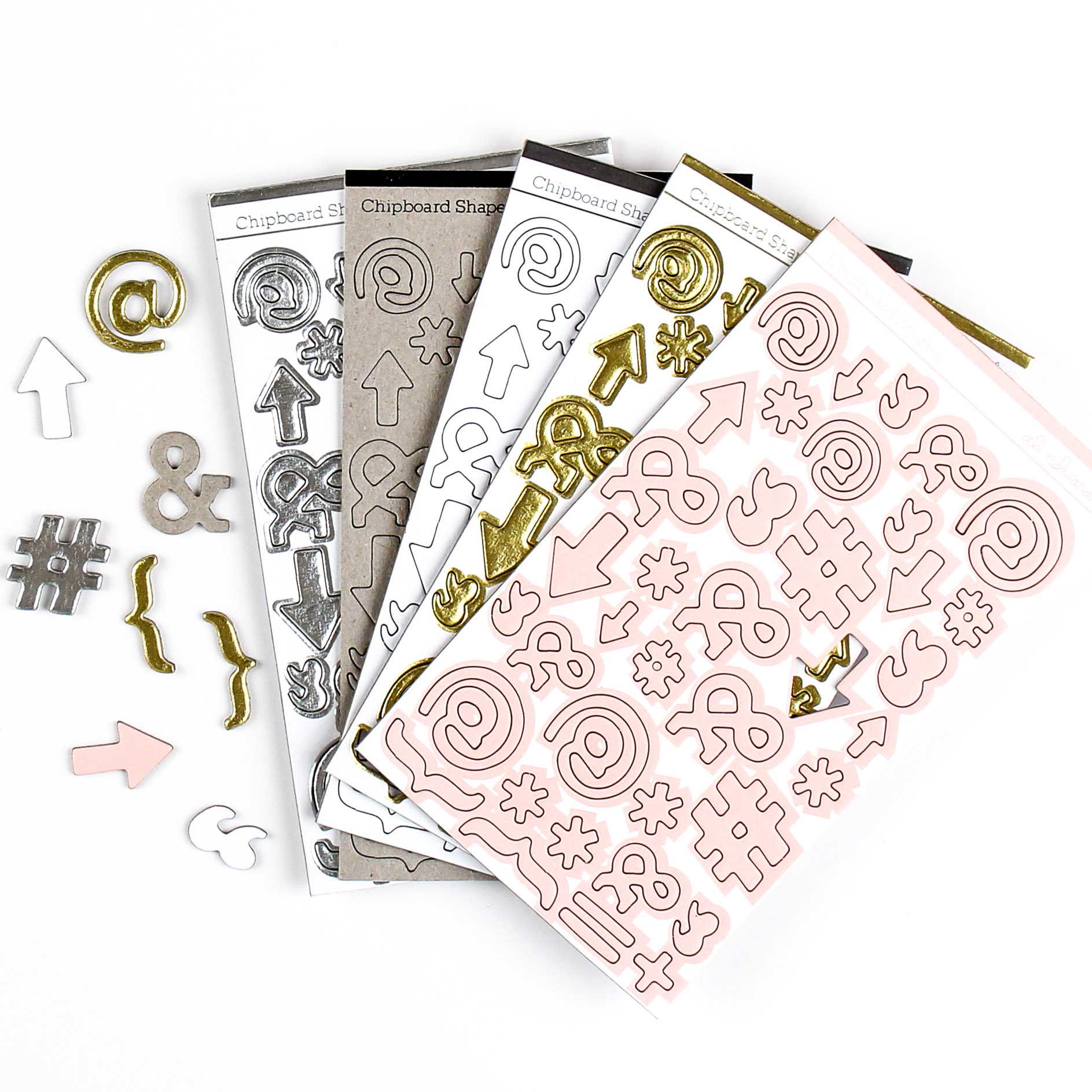 Chipboard Shapes Ideas ~ Ali edwards design inc chipboard shapes mixed