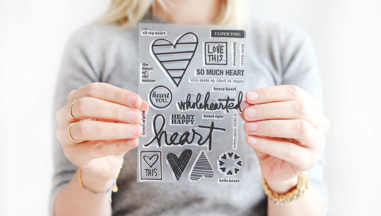 Ae heart stamp slider original