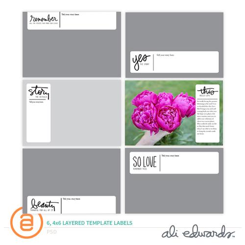 ali edwards design inc 4x6 layered template labels. Black Bedroom Furniture Sets. Home Design Ideas