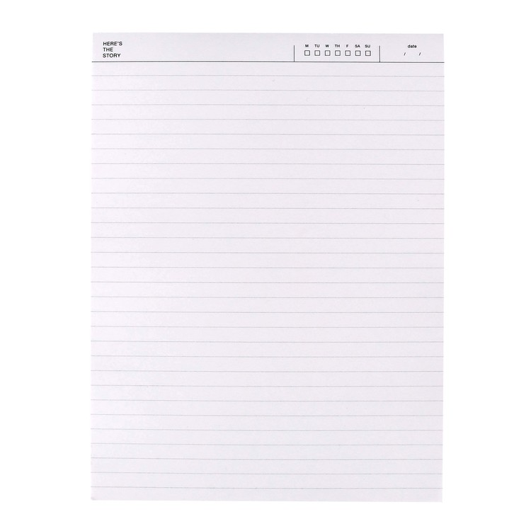 27662 6x8 ledger notepad original