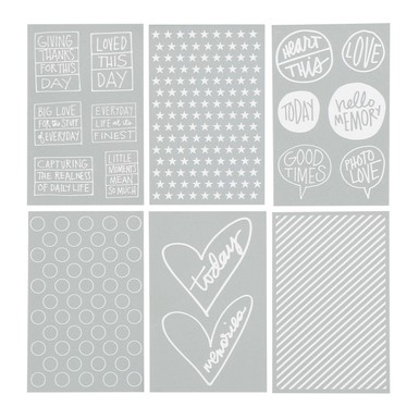 25455 daily sayings pattern silkscreens