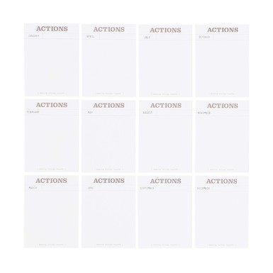 26704 monthly action journal cards