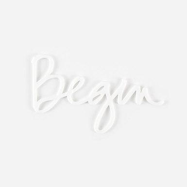 Olw acrylic large white word shop image