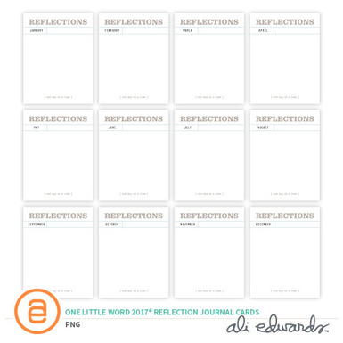 Ae olwreflectionjournalcards