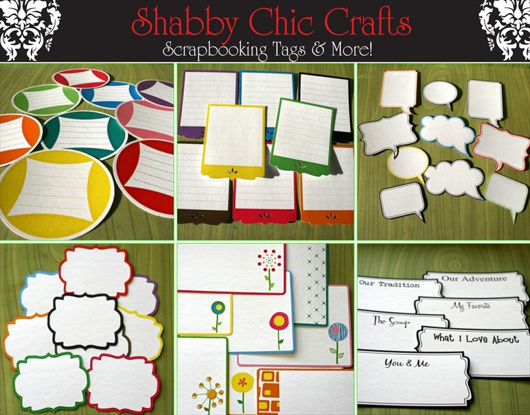 Shabby Chic Crafts Journaling Tags ad