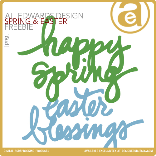 Ali Edwards Spring/Easter Word Art Freebie