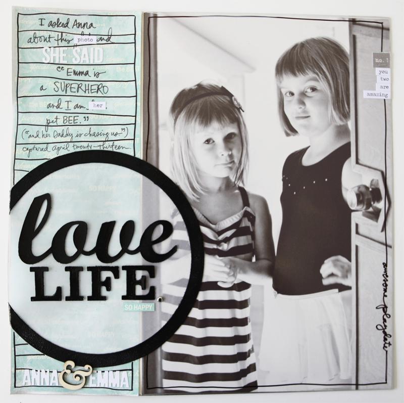 Ali Edwards Design Inc Blog Love Life Traditional Scrapbook