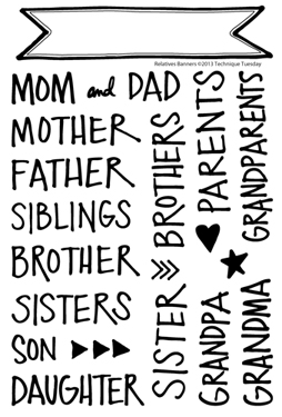 Technique-Tuesday-Relatives-Banners-Clear-Stamps-Medium