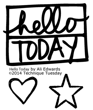 Technique-Tuesday-Hello-Today-Clear-Stamps-Medium