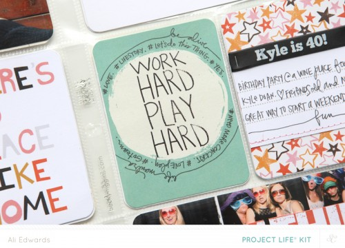 Ali Edwards for Studio Calico | Tips For Adding More Words & Cutting Up PL Cards