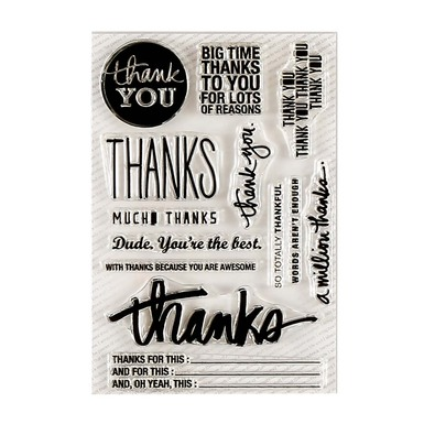 9285 thanks stamp set