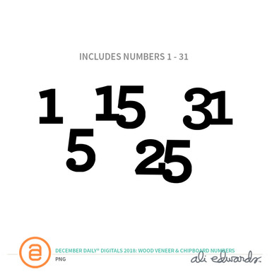 Aedwards woodchipboardnumbers